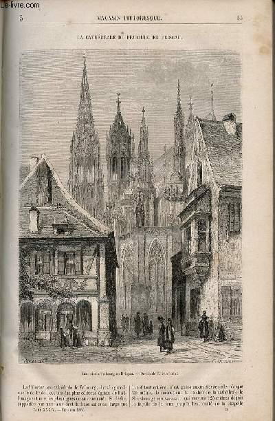 LE MAGASIN PITTORESQUE - Livraison n°005 - La cathédrâle de Fribourg en Brisgau.