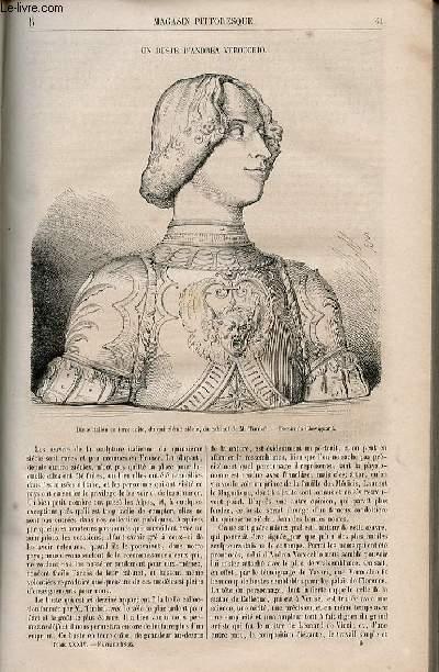 LE MAGASIN PITTORESQUE - Livraison n°006 - Un buste d'Andrea Verocchio.