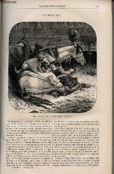 LE MAGASIN PITTORESQUE - Livraison n°007 - Une bonne bête.