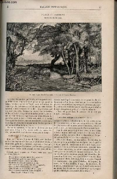 LE MAGASIN PITTORESQUE - Livraison n°008 - Parcs et jardins - Le poème de Delille.