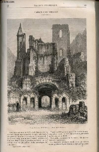 LE MAGASIN PITTORESQUE - Livraison n°012 - L'abbaye d'Allerheiligen (Forêt Noire).