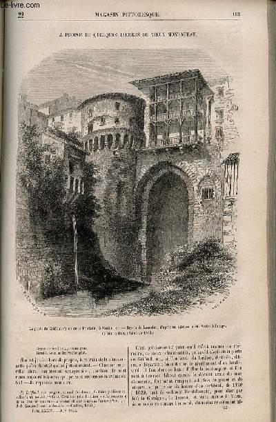 LE MAGASIN PITTORESQUE - Livraison n°022 - A propos de quelques pierres du Vieux Montauban.