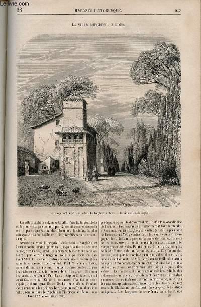 LE MAGASIN PITTORESQUE - Livraison n°028 - La villa Borghèse à Rome.
