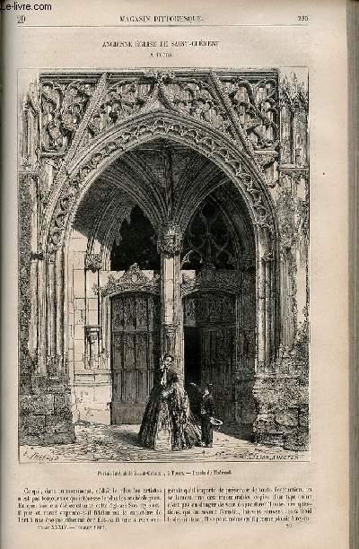 LE MAGASIN PITTORESQUE - Livraison n°029 - Ancienne église de Saint Clément à Tours.