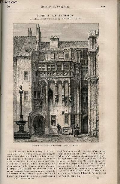 LE MAGASIN PITTORESQUE - Livraison n°032 - L'hôtel de ville de Nuremberg.