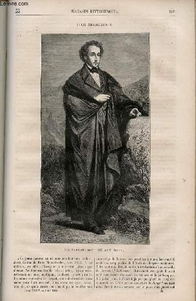 LE MAGASIN PITTORESQUE - Livraison n°033 - Félix Mendelssohn.