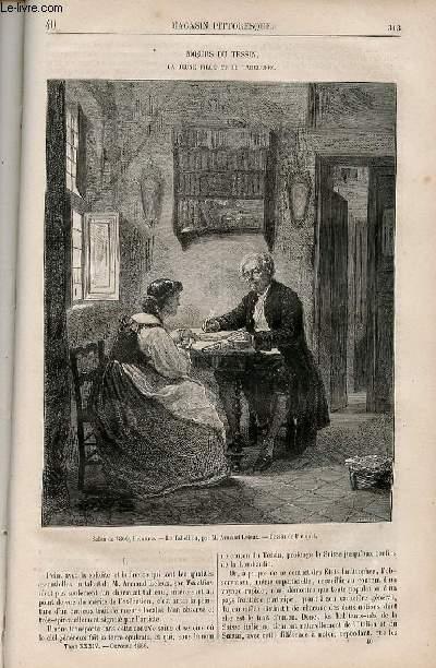 LE MAGASIN PITTORESQUE - Livraison n°040 - Moeurs du tessin - La jeune fille et le tabellion.