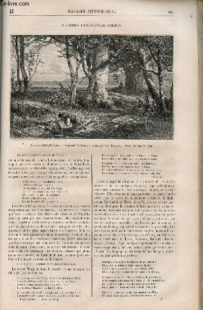 LE MAGASIN PITTORESQUE - Livraison n°041 - A propos d'un paysage breton.