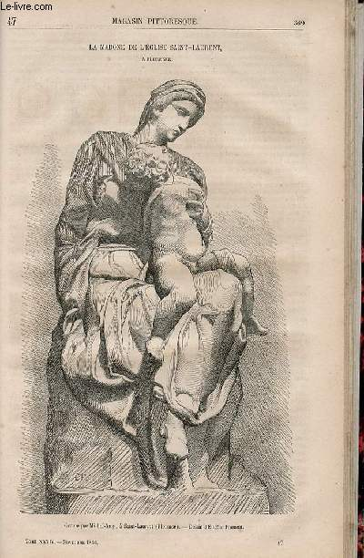 LE MAGASIN PITTORESQUE - Livraison n°047 - La madone de l'église Saint Laurent à Florence.