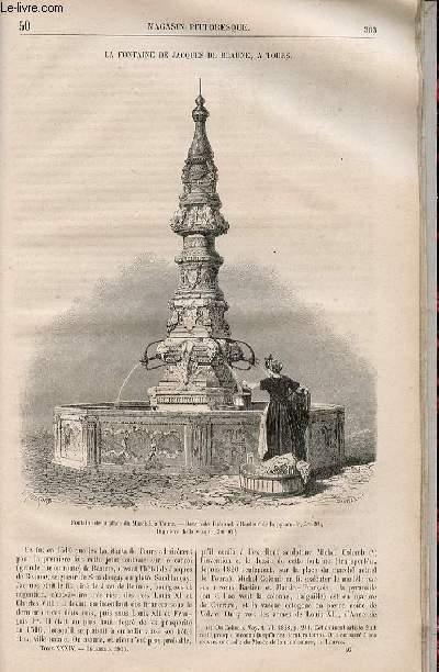 LE MAGASIN PITTORESQUE - Livraison n°050 - La fontaine de Jacques de Beaune à Tours.