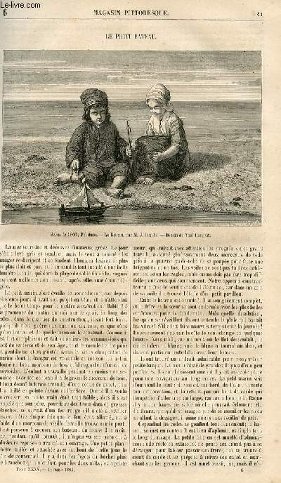 LE MAGASIN PITTORESQUE - Livraison n°006 - Le petit bateau.