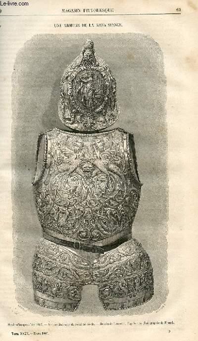 LE MAGASIN PITTORESQUE - Livraison n°009 - Une armure de la Renaissance.