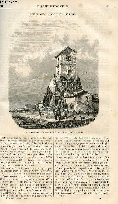 LE MAGASIN PITTORESQUE - Livraison n°010 - Ruines dans la campagne de Rome.