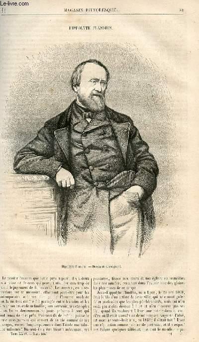 LE MAGASIN PITTORESQUE - Livraison n°011 - Hippolyte Flandrin,à suivre.