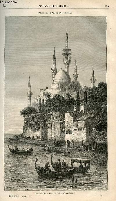 LE MAGASIN PITTORESQUE - Livraison n°014 - Saida et l'ancienne Sidon.