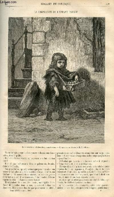 LE MAGASIN PITTORESQUE - Livraison n°017 - La complainte de l'enfant pauvre.