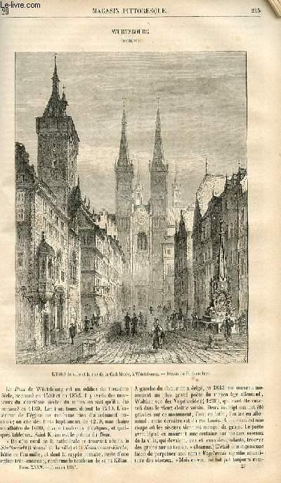 LE MAGASIN PITTORESQUE - Livraison n°029 - Wurtzbourg (bavière).
