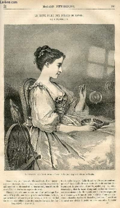 LE MAGASIN PITTORESQUE - Livraison n°031 - La jeune fille aux bulles de savon.