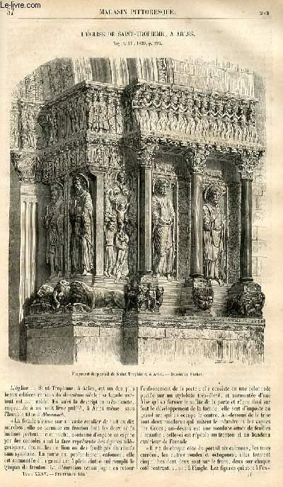 LE MAGASIN PITTORESQUE - Livraison n°037 - L'église de Saint Trophime à Arles.