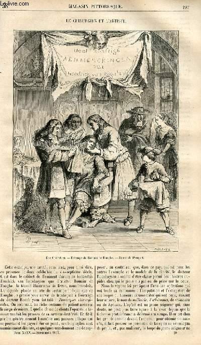 LE MAGASIN PITTORESQUE - Livraison n°038 - Le chirurgien et l'artiste.