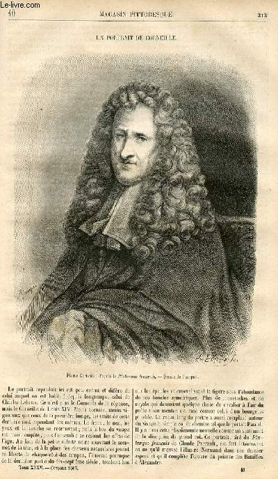 LE MAGASIN PITTORESQUE - Livraison n°040 - Un portrait de Corneille.