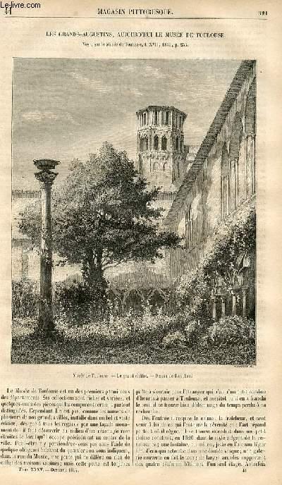 LE MAGASIN PITTORESQUE - Livraison n°041 - Les Grands- Augustins aujourd'hui le musée de Toulouse.