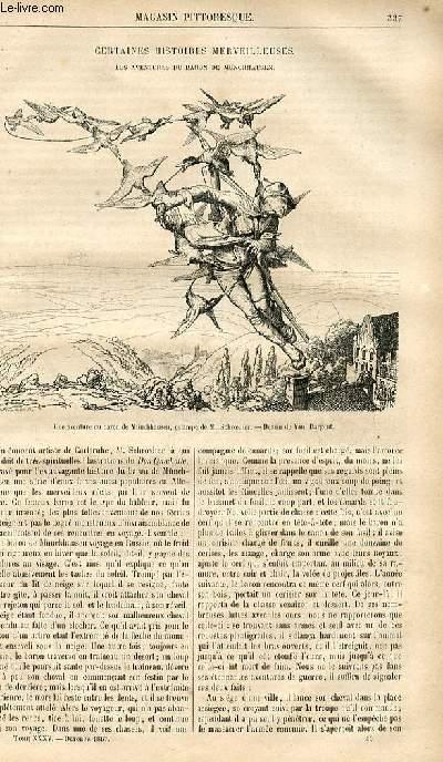 LE MAGASIN PITTORESQUE - Livraison n°043 - Certaines histoires merveilleuses - Les aventures du baron de Munchhausen.