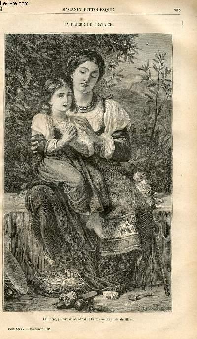 LE MAGASIN PITTORESQUE - Livraison n°049 - La prière de Béatrice.