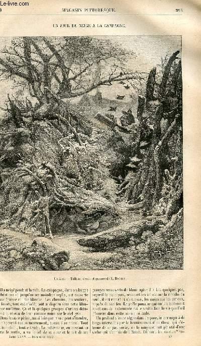 LE MAGASIN PITTORESQUE - Livraison n°050 - Un jour de neige à la campagne.