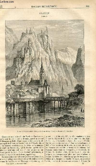 LE MAGASIN PITTORESQUE - Livraison n°052 - Clausen (Tyrol).