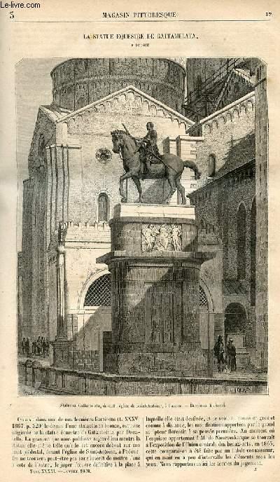 LE MAGASIN PITTORESQUE - Livraison n°003 - La statue équestre de Gattamelata à Padoue.