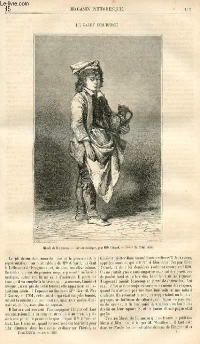 LE MAGASIN PITTORESQUE - Livraison n°015 - Le valet d'auberge.