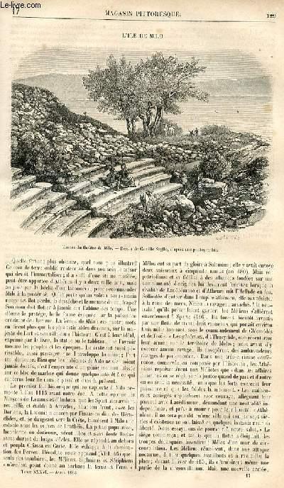 LE MAGASIN PITTORESQUE - Livraison n°017 - L'ile de milo.
