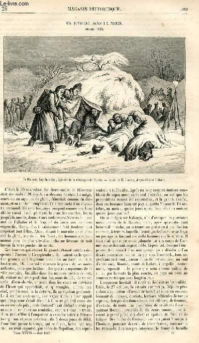 LE MAGASIN PITTORESQUE - Livraison n°026 - Un bivouac dans la neige (Russie, 1812).