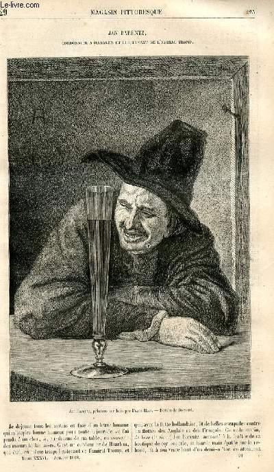 LE MAGASIN PITTORESQUE - Livraison n°029 - Jan Barentz, cordonnier à Haarlem et lieutenant de l'amiral Tromp.