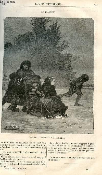 LE MAGASIN PITTORESQUE - Livraison n°010 - Le traineau.