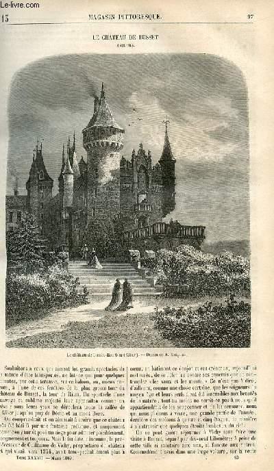 LE MAGASIN PITTORESQUE - Livraison n°013 - Le château de Busset (Allier).