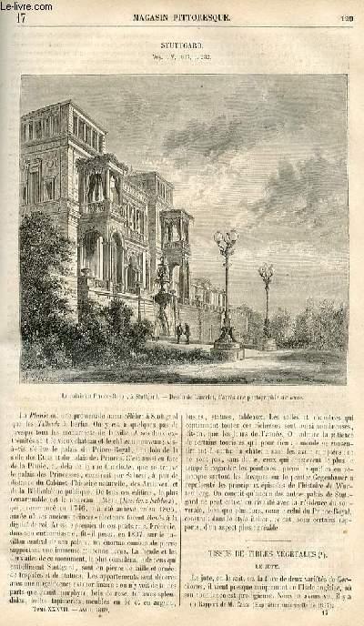 LE MAGASIN PITTORESQUE - Livraison n°017 - Stuttgard.