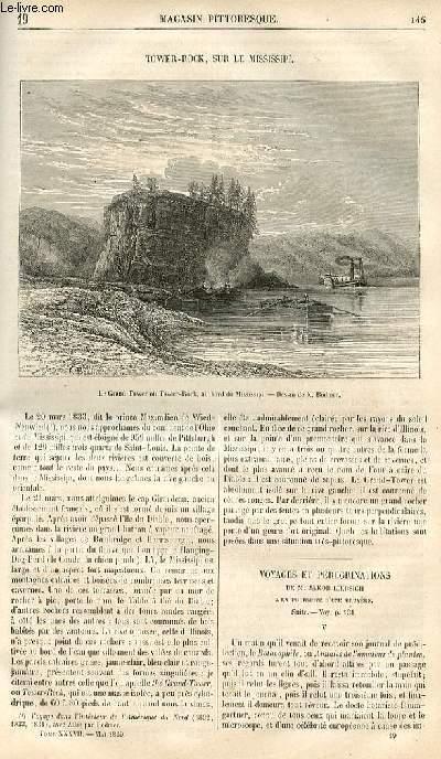 LE MAGASIN PITTORESQUE - Livraison n°019 - Tower Rock, sur le Mississipi.