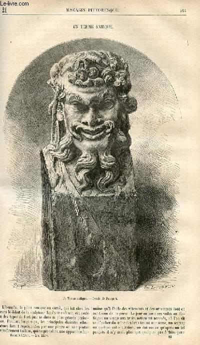 LE MAGASIN PITTORESQUE - Livraison n°021 - Un terme antique.