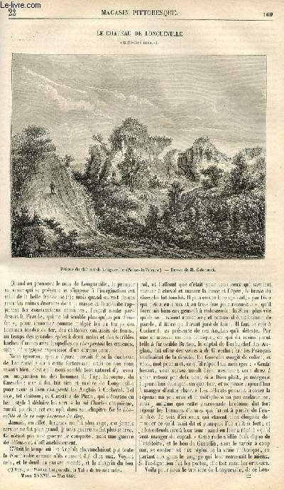 LE MAGASIN PITTORESQUE - Livraison n°022 - Le château de Longueville (Seine Inférieure).