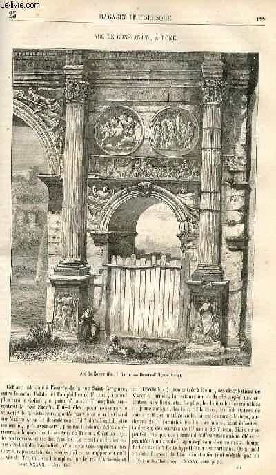 LE MAGASIN PITTORESQUE - Livraison n°023 - Arc de Constantin à Rome.