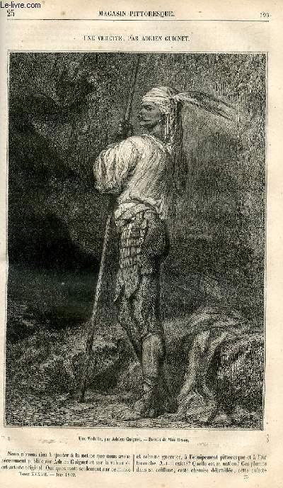 LE MAGASIN PITTORESQUE - Livraison n°025 - Une vedette par Adrien Guignet.