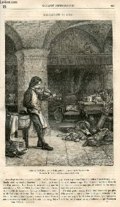 LE MAGASIN PITTORESQUE - Livraison n°026 - Jean baptiste de Lulli.
