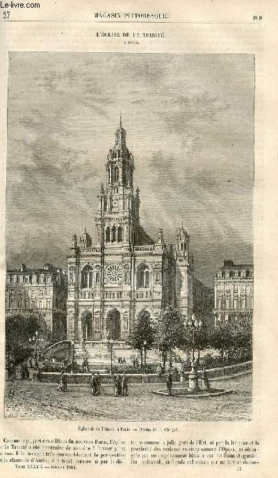 LE MAGASIN PITTORESQUE - Livraison n°027 - L'église de la Trinité à Paris.