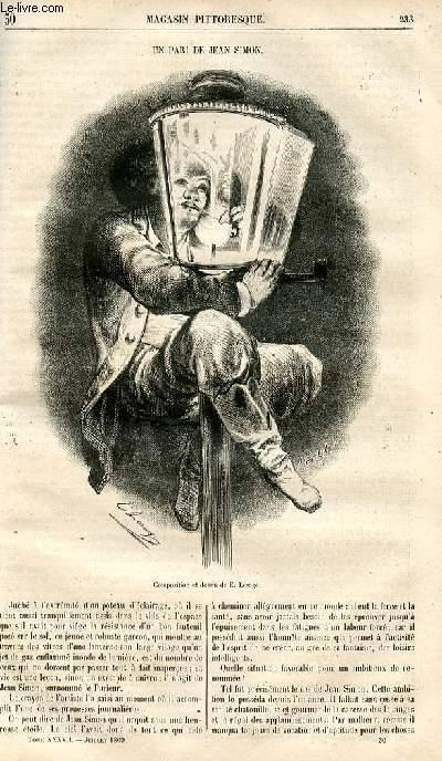 LE MAGASIN PITTORESQUE - Livraison n°030 - Un pari de Jean Simon.