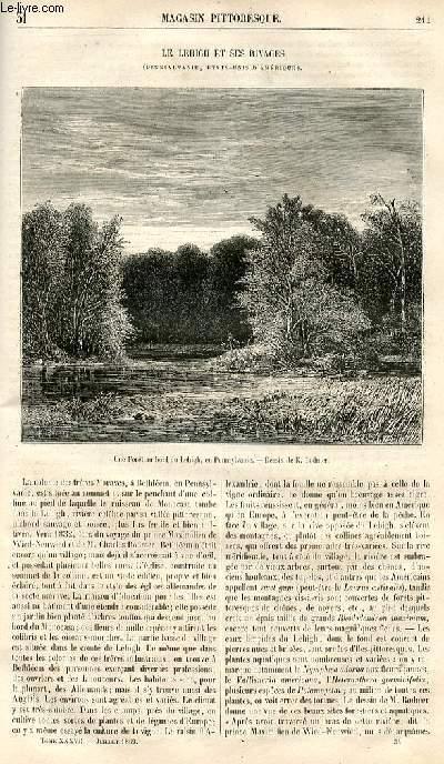 LE MAGASIN PITTORESQUE - Livraison n°031 - Le lehigh et ses rivages (Pennsylvanie, Etats Unis d'Amérique).