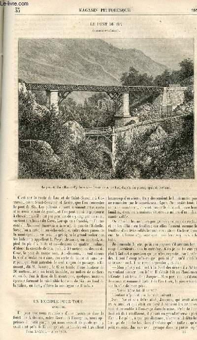 LE MAGASIN PITTORESQUE - Livraison n°033 - Le pont de Sia (hautes Pyrénées).