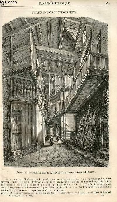 LE MAGASIN PITTORESQUE - Livraison n°034 - Vieilles maisons et maisons neuves.