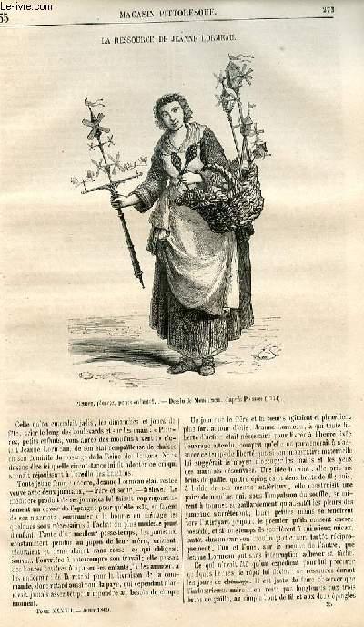 LE MAGASIN PITTORESQUE - Livraison n°035 - La ressource de Jeanne Lormeau.